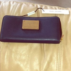 NWT- - Marc Jacobs Navy Blue Wallet